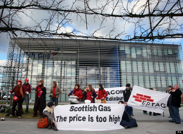Protest outside Scottish Gas Edinburgh HQ