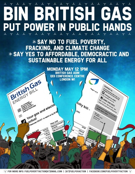 Join us for 'Bin British Gas: Put Power in Public Hands!